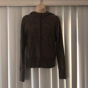 LULULEMON Floral Brown Zip Sweatshirt Hoodie S / M